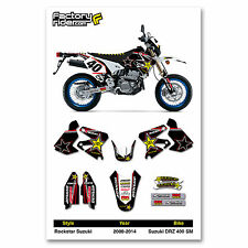 2000-2014 SUZUKI DRZ 400 SM Rockstar Motocross Graphics Dirt bike Graphics kit