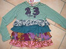 (851) Nolita Pocket Girls Materialmix Shirt mit Logo Stickerei & Volants gr.116