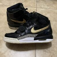 Rare Nike Air Jordan Legacy 312 Black Fold Patent Gs Size 5.5y At4040-007