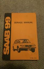 Vintaga Saab 99 1973 Shop Manual  Nice Condition Years 1969-1974