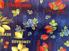 Wilmington Prints The Berry Best cherries lemon Strawberry cotton fabric BTY