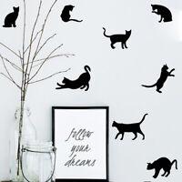 9Pcs Cat Kitten Wall Stickers Vinyl Art Children Kids Room Ceiling Wall Decal