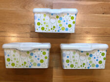 3 Huggies Baby Wipes Containers With Pop-Up Lid Empty Retro 2012 New
