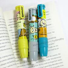 1x Cute Rilakkuma Cartoon Push Button Pencil Shaped Eraser School Supplies San-x