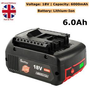 18V 6.0Ah Li-ion Battery For Bosch BAT609 BAT610 BAT618 17618 25618-01 GSB GSR