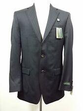NEW - Lauren Ralph Lauren - Men's 2-Piece Suit - Size 40 Striped Black 100% Wool