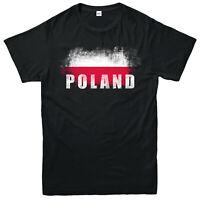 Poland Flag T-Shirt, Souvenir Love Vintage Adult And Kids Gift Top