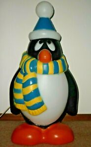 """Vintage General Foam Blow Mold Chilly Willy Penguin Lighted Christmas Decor 28"""""""