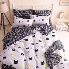 BATMAN CARTOON KIDS Duvet Cover Bedding Set (Pillowcases + Flat Sheet)- TWIN