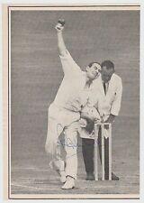 Ray Illingworth Inglaterra jugador de cricket 61 test matches 1954-1963 Orig Foto Firmada a Mano