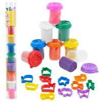 20 PCS Clay Craft Dough Gift Set Tubs & Shape Cutter Moulds Kids Toys Xmas Fun