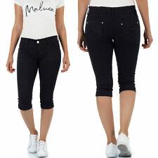 2e65083684820f Malucas Damen 3/4 Capri Jeans Kurze Hose Caprihose Sommer Bermuda Shorts  Stretch