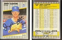 Jerry Don Gleaton Signed 1989 Fleer #282 Card Kansas City Royals Auto Autograph