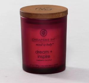 NEW Chesapeake Bay Mind & Body Candle Dream & Inspire Raspberry Coconut 3.7 oz