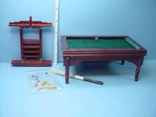 Dollhouse Miniature Furniture Walnut Pool Table Set 676