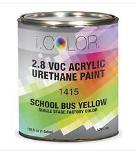 SCHOOL BUS YELLOW Gallon Kit Single Stage ACRYLIC URETHANE  Auto Paint Kit