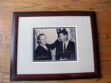 TED WILLIAMS & STAN MUSIAL SIGNED 8X10 PHOTOGRAPH COA GREEN DIAMOND #9 HOLOGRAM