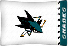 NEW San Jose SHARKS NHL Standard Knit Pillowcase
