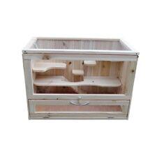 Kleintiergehege Kleintierkäfig Nagerstall Hamsterkäfig Terrarium Stall Holz NEU