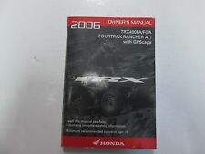 2006 Honda TRX400FA/FGA FOURTRAX Rancher AT/ GPScape Owners Owner Manual