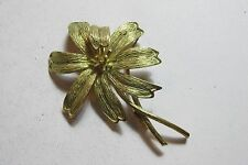 "Estate Vintage 18K Yellow Gold Tiffany & Co. Flower 2 3/8"" Pin Brooch 13.2 Gram"