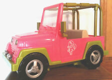 """Jeep Our Generation Pink  Jeep for 18"""" Doll Camper 4x4 Fits American Girl Dolls"""