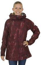 Women's Nike SB Lustre Print Snowboarding Jacket - XS (Deep Burgendy)