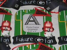 GEORGIA BULLDOGS UGA PHOTO FRAME BABY NEWBORN CHRISTMAS ORNAMENT  FUTURE FAN