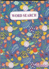 WORDSEARCH PUZZLE BOOK (PAPERBACK) 110 PUZZLE POCKET PUZZLES BLUE FLORAL COVER