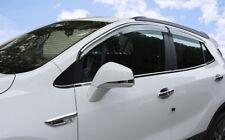 Chrome EDGE Window Wind-Rain Deflector Stick-On-Type 07-14 For CHEVROLET CAPTIVA