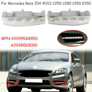 A Pair DRL Fog Lights Left& Right For Mercedes Benz 204 W212 C250 C280 C350 E350