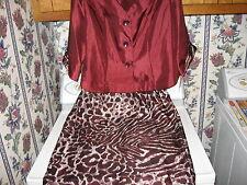 WOMENS DRESS SIZE 16 ~ ANIMAL PRINT SKIRT & JACKET RETAIL $80.00 NEW W/TAGS