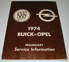 Service Information Buick Electra Limited Apollo Skylark Century / Opel 1974!