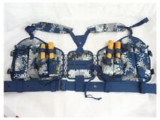07's China PLA Air Force,Airborne Troops Digital Camo Combat Tactical Vest,Set,A
