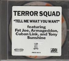 Terror Squad: Tell Me What You Want PROMO w/ Artwork MUSIC AUDIO CD Fat Joe Edit