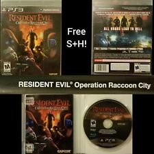 Resident Evil Operation Raccoon City Ps3  (Sony PlayStation 3, 2012) FREE S+H !