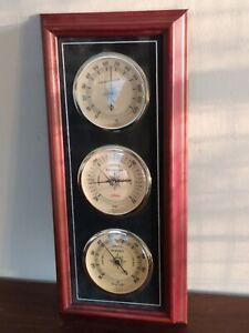 Vintage Sunbeam Weather Station Thermometer Barometer Humidity