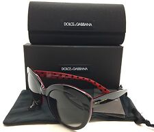 Dolce & Gabbana Polarized Black Red Sunglasses DG 4227 2871 T3 3P 54 Polka Dots
