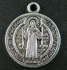 12pcs Tibetan Silver Saint Coin Pendants 28.5x25x3mm 9488-1