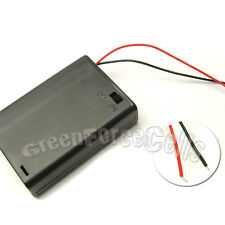 10 x 3 AA 14500 LR6 Cells Battery Clip Holder Box Case with Wire Lead w/ Switch