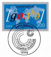 BRD 2001: Goethe-Institute Nr. 2181 mit dem Berliner Ersttags-Sonderstempel! 1A!