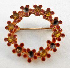 Pin Brooch U8 Vintage Delicate Floral Wreath