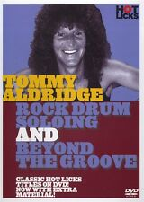 TOMMY ALDRIDGE ROCK DRUM SOLOING / BEYOND THE GROOVE HOT LICKS DVD HOT209 DRUMS
