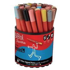 Berol Colourbroad Pen Assorted Water Based Ink Tub of 42 CBT S0375970 [BR30073]