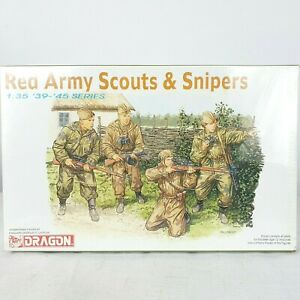 DRAGON 1/35 Scale Red Army Scouts & Snipers 6068 Model Kit 4 Figures 40 Pieces