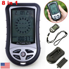 8in1 Digital Altimeter Barometer Thermometer Weather Forecast Compass for Hiking