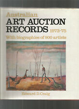 AUSTRALIAN ART AUCTION RECORDS 1973-75 1975-1978 1979-1981 by CRAIG Hc 3 Books