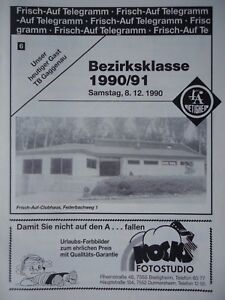 Programm Handball 8.12.1990 FA Bietigheim - TB Gaggenau