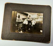 Antique Card Photo of Barber Shop Toronto Canada ca.1911 J.W. Wilson Photograph