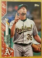 2020 Topps Series 1 SP Independence Day Parallel #'d /76 Blake Treinen #92 A's